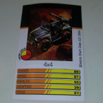 Action Man Power Cards 1996 4x4 Trading card @sold@